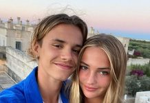 Romeo and Mia have been enjoying themselves in Cornwall, and the son of David and Victoria took to Instagram on Tuesday to give fans an insight into their break (Photo: Instagram)
