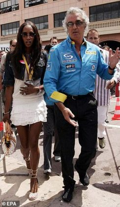 Briatore was once engaged to Naomi Campbell (Photo: Wenn)