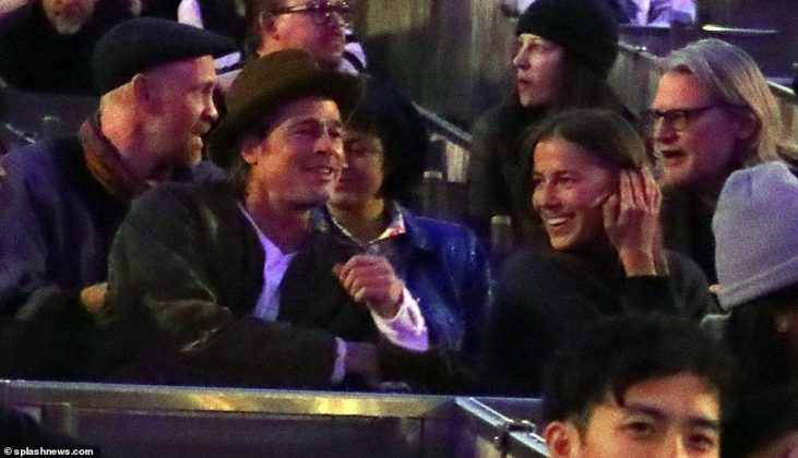 The pair look very flirty on a date night NINE months ago as their relationship is confirmed (Photo: Splashnews)