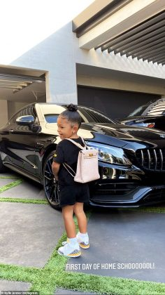 She's no stranger the luxurious lifestyle, thanks to her mom Kylie Jenner. And on Wednesday morning, proud mom Kylie shared a snap of daughter Stormi, two, before her first day of home school (Photo: Instagram)