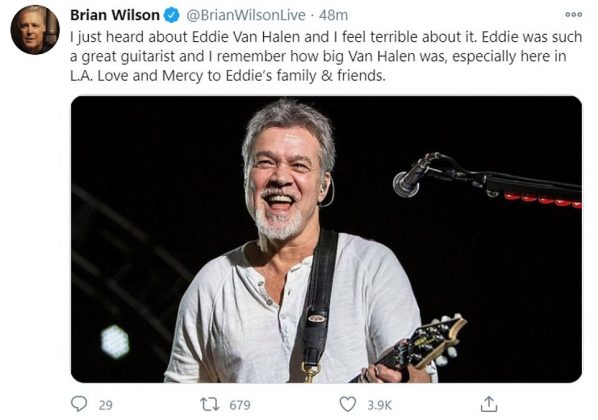 The co-founder of 80s band Van Halen had been battling throat cancer and had been sick for over a decade (Photo Twitter)