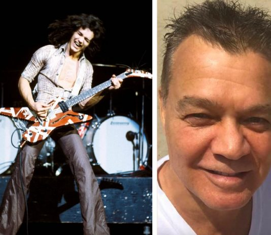 Van Halen died aged 65 in Santa Monica, California on Tuesday with his wife, son and brother at his side (Photo: Instagram)
