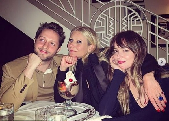 Gwyneth 'loves' the star, and has been spotted spending time with Dakota, as well as Chris and Brad, several times. (Photo: Instagram)