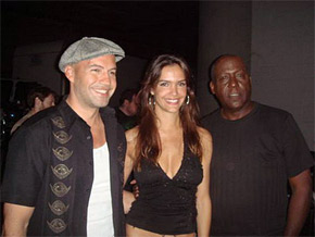 Billy Zane, Camila Alves and Richard Roundtree Shooting film 'The Confidant' in Los Angeles (Photo: JETSS)