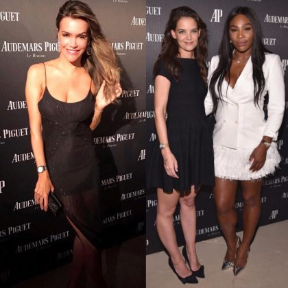 Camila Alves, Katie Holmes and Serena Williams at Audemars Piguet launch in Art Basel Miami (Photo: JETSS)