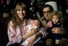 Mia Farrow, Dylan Farrow, Woody Allen and Ronan Farrow. (Photo: Courtesy of HBO)