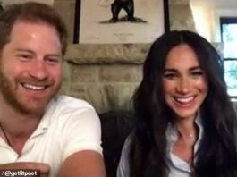 Harry, 36, looked very tanned as he and his wife, 39, joined the online class from their $14.5 million home in Montecito, California (Photo: Instagram)