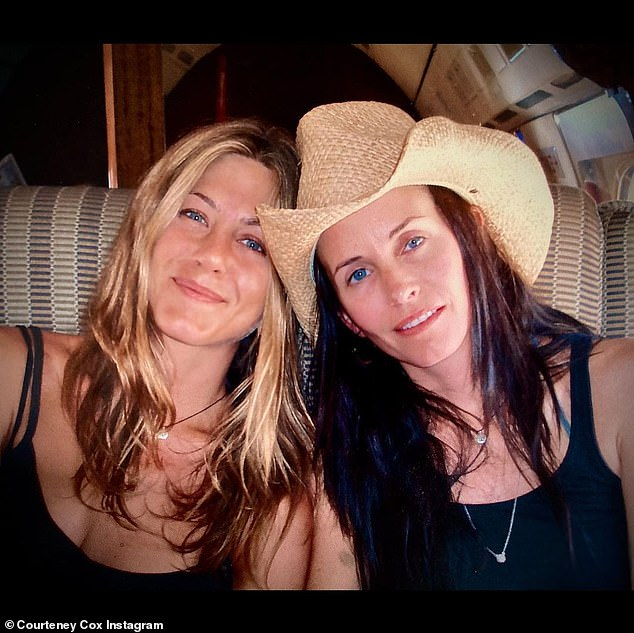 Courteney Cox was among the many stars sending their love to Jennifer Aniston as the actress celebrated her 52nd birthday on Thursday (Photo: Instagram)