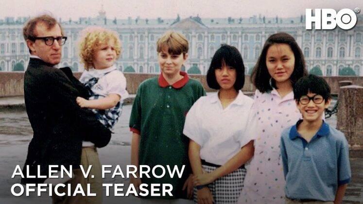 Ronan Farrow, Lark Previn, Woody Allen, Dylan Farrow, Fletcher Previn, Daisy Previn, Soon-Yi Previn, Moses Farrow and Mia Farrow. (Photo: Courtesy of HBO)