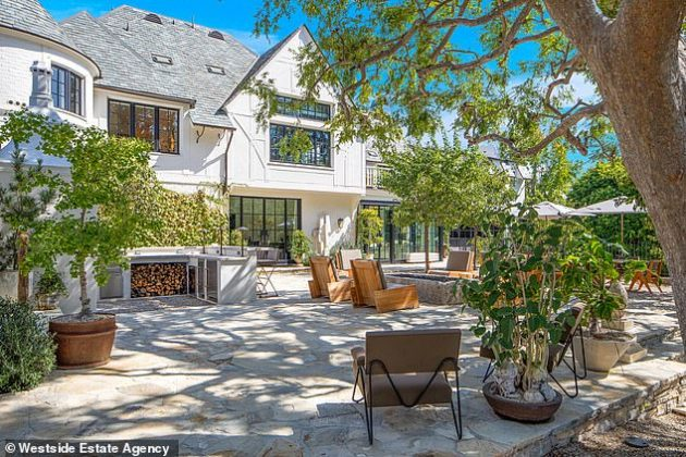 Ellen DeGeneres and Portia De Rossi have listed their enormous Beverly Hills mansion for $53.5million two years after purchasing the property (Photo: Westside Estate Agency)