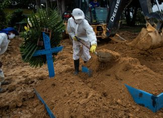 On Tuesday, Brazil recorded more than 1,700 Covid-19 deaths, its highest single-day toll of the pandemic. (Photo: Shutterstock)